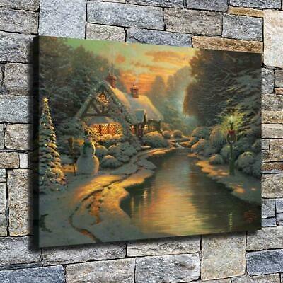 """12""""x16"""" Christmas Atmosphere HD Canvas prints Home decor Room Wall art Pictures"""