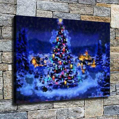 """12""""x16"""" Christmas Serenity HD Canvas prints Home decor Room Wall art Pictures"""