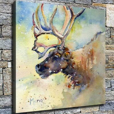 """12""""x12"""" Abstract Elk Painting HD Canvas prints Home decor Room Wall art Pictures"""