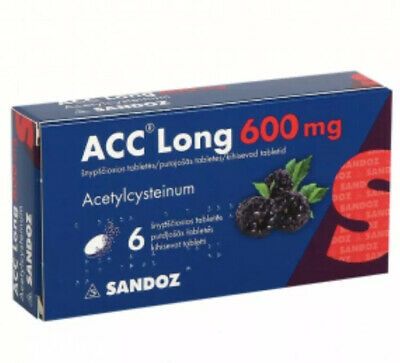 ACC Long 600,chronick bronchitis,Lung abscess Bronchiolitis Tracheitis 6Tablets