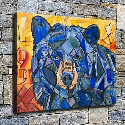 "12""x16"" Abstract Bear Paints HD Canvas prints Home decor Room Wall art Pictures"