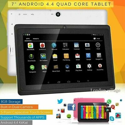 7″Inch Android 4.4 Kids Tablet PC Quad Core 8GB Wifi HD Dual Camera Xmas Gift