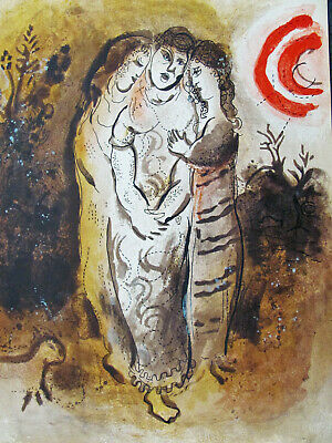 Chagall - Naomi And Her Daughter-In-Laws - Original Litografía - US