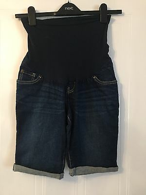 Indigo Blue Maternity denim shorts US Size S (UK 10)