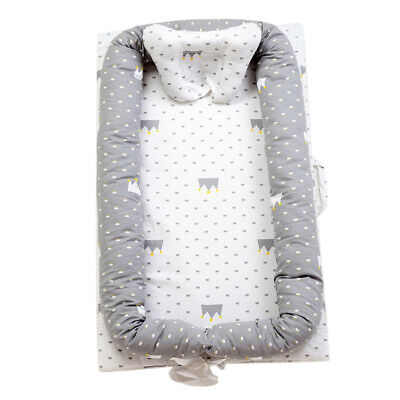 Baby Nest Grey Crown Baby Bassinet for Bed/Lounger/Nest/Pod/Cot Bed/Sleeping NEW