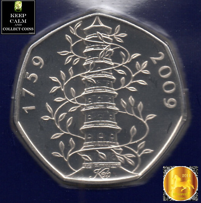 GENUINE KEW GARDENS 50p COIN BRILLIANT UNCIRCULATED BU UK A