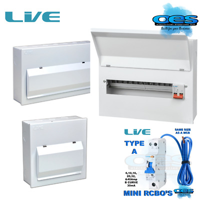 METAL CONSUMER UNITS WITH 100AMP MAIN SWITCH AND RCBOS LIVE ELECTRICAL All SIZES