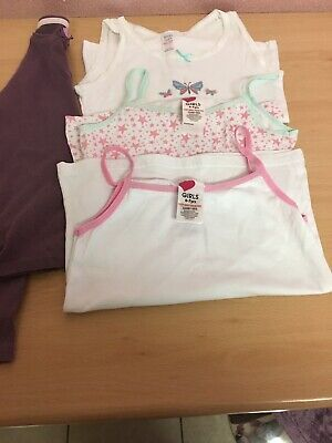 3x Vest One Long Sleep Pj Top Size 6.7 And 7.8yrs Used Good Con