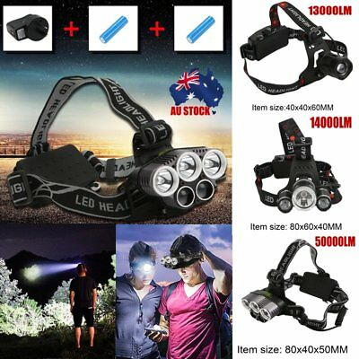13000-50000LM LED Headlamp Rechargeable Headlight  T6 Head Torch Light MD
