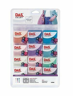 DAS Smart Fashion Style Pastel Colours Collection Polymer Clay Set 12 x 27.5g