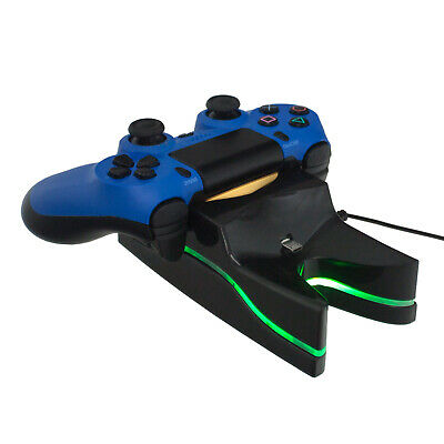 PS4 Dual-Ladestation Dockingstation Playstation 4 Controller LED Beleuchtung