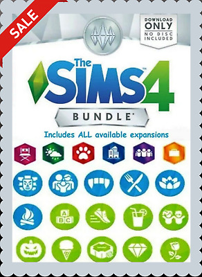 ⭐SALE⭐ THE SIMS 4 + ALL Expansions |15+ DLC| Game Account | PC&MAC +Warranty