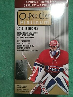 2017-18 Panini  Hockey Opeechee Platinum Blister Box Factory Sealed