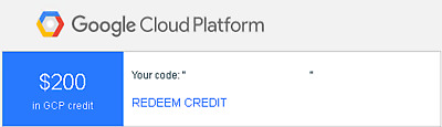 $200 Google Cloud Platform Credit Codes