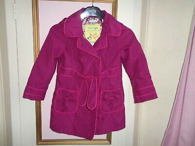 Marks & Spencer Girls Coat Fully Lined Button  Front  Detach Hood  Fit 6~7 Yrs