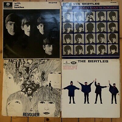 Beatles4 LPs Revolver Hard Days Night Help With the Beatles UK Early Pressings