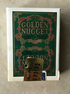 Vintage Golden Nugget Hotel & Casino Las Vegas Playing Cards Green Deck Sealed