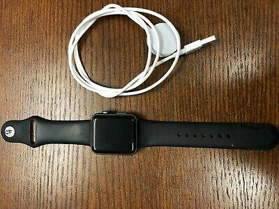 Apple Watch Series 3 42mm Cellular Space Gray with Black Sport Band