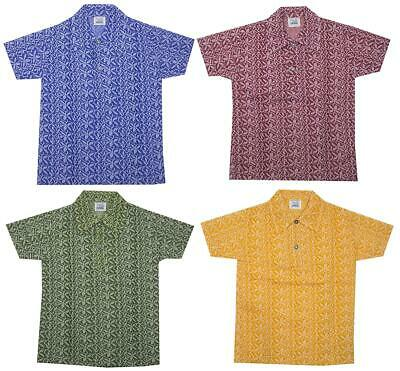 Boys Retro Knitted Placket Collar Foliage Polo Shirt T-Shirt Top 2 to 6 Years