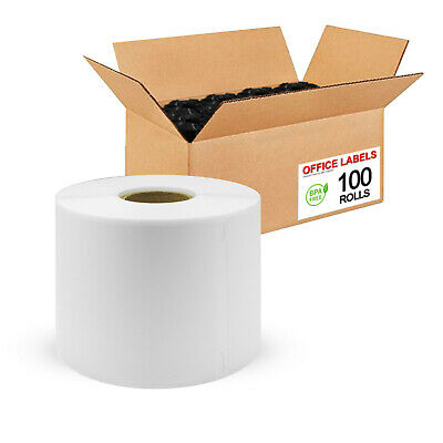 "100 Rolls of 30256 Compatible Shipping Labels for DYMO® 2-5/16"" x 4"""