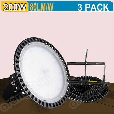 3PACK 200W LED High Bay Light Warehouse Factory Industrial Commercial Day White