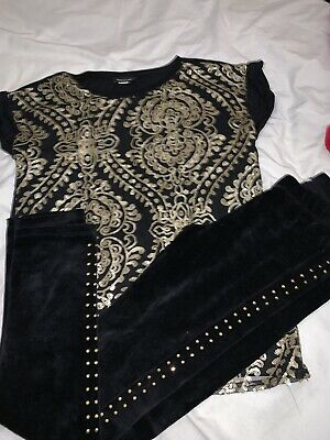 Girls River Island Top And Legging Outfit Age 9/10/11