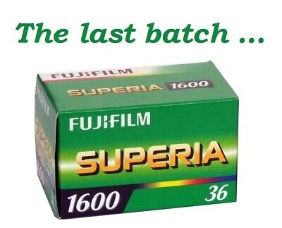 1 Roll Fujifilm Fujicolor Superia 1600 Color Neg Film 35mm 36 Exp Fuji 08/2018
