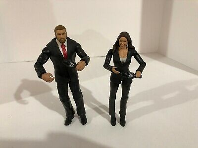 Stephanie McMahon And Triple H WWE Mattel Basic Series Wrestling Action Figure