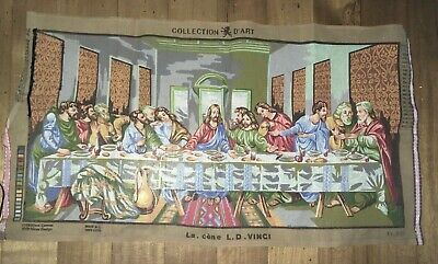 Unmade tapestry embroidery the last supper see decription has flaws