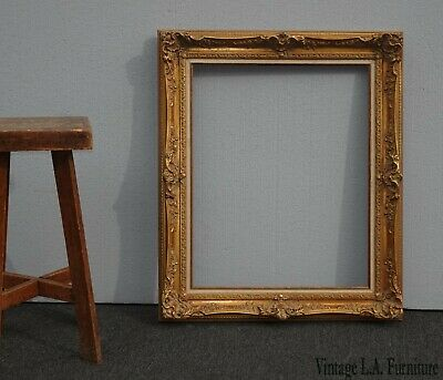 """Large 38""""Tall Vintage French Provincial Gold Ornate Picture Frame Made in Mexico"""