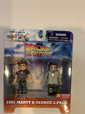 NEW Back to the Future Minimates 2 pack set - 1955 Marty and George