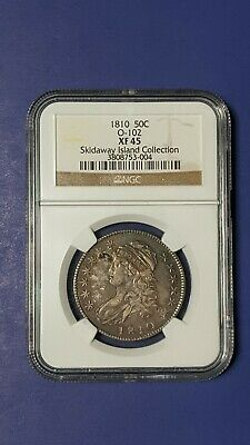 1810 50C  NGC XF45 0-102  Skidaway Island Collection  Bust Half Dollar