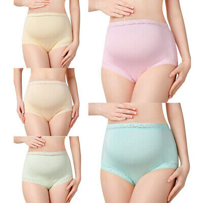 Pregnant Maternity Women High Waist Modal Panties Sexy Lace Large Size Briefs,