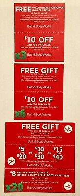 COUPONS GALORE! Bath&Body Works, Victoria's Secret, Yankee Candle AND MORE! BOA!