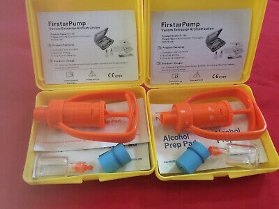 First Aid Safety Snake Bite Kit for Emergency Venom Extraction, Pack of Two