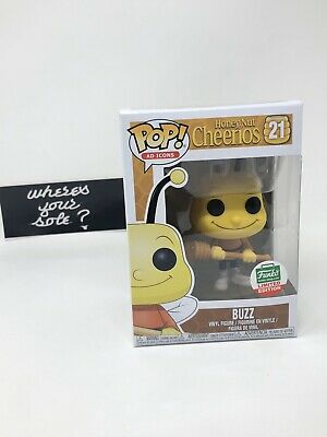 Funko Pop Ad Icons Buzz Bee Honey Nut Cheerios #21 Shop Exclusive w free protect