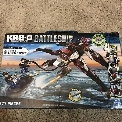 KRE-O Battleship 38955 Alien Strike /&  38974 Battle Base  Ages 7-14 NEW 2 Sets