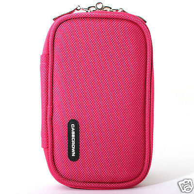 """Universal Zipper Memory foam Case Pouch (Hot Pink) for 2.5"""" Hard Drive HDD SSD a"""