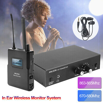 For ANLEON S2 In-Ear Wireless Stage Wedge Monitor System Transmitter Receiver DH