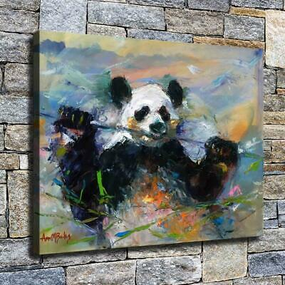 "12""x16"" Panda Oil Paintings HD Canvas prints Home decor Room Wall art Pictures"