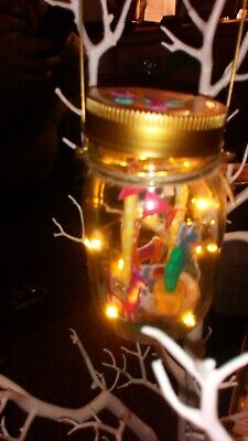 Llama party.. Light Up Jar.. Unique handcrafted.. New