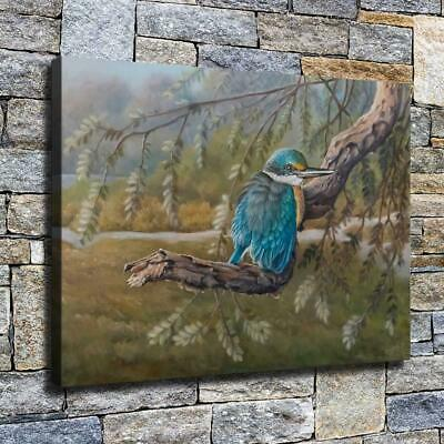 """12""""x16"""" Bird on Tree Paints HD Canvas prints Home decor Room Wall art Pictures"""