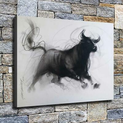 """12""""x16"""" Ink Painting Cow Poster HD Canvas print Home decor Room Wall art Picture"""