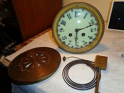 """Antique-French-Clock Movement """"Parrot"""" Ca.1890-To Restore-#K136Y"""