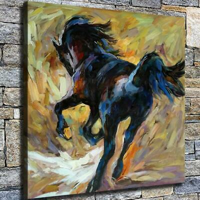 "12""x12"" Jumping Horse Paints HD Canvas prints Home decor Room Wall art Pictures"