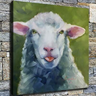 "12""x12"" Sheep Steppe Painting HD Canvas prints Home decor Room Wall art Pictures"