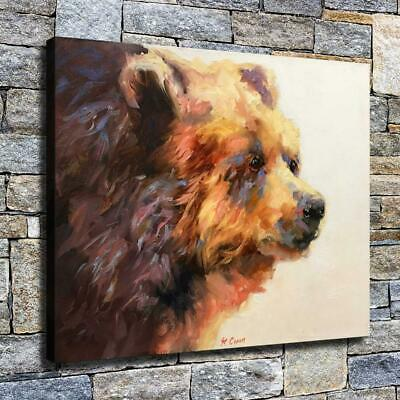 "12""x16"" Abstract Bear Head HD Canvas prints Home decor Room Wall art Pictures"