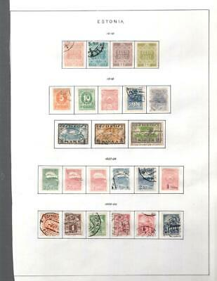 1¢ Wonder's ~ Estonia M&U Small Lot On Pages All Shown ~ W586