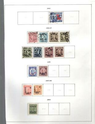 1¢ Wonder's ~ China Used Small Lot On Pages All Shown ~ W550