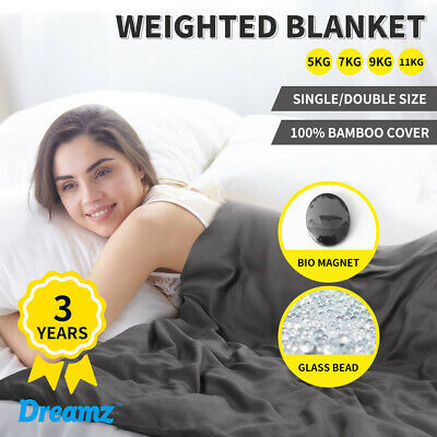 Dreamz Weighted Blanket Heavy Gravity Deep Relax Bamboo Adults Kids 5/7/9/11KG